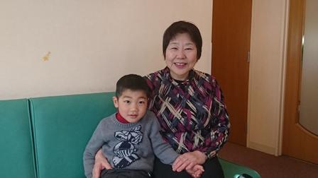小林歯科クリニックに通って来てくれるK君とおばあちゃん