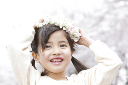 花冠の女の子